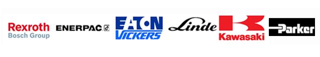 Onze belangrijkste merken: Rexroth, Enerpac, Eaton, Vickers, Linde, Kawasaki, Parker