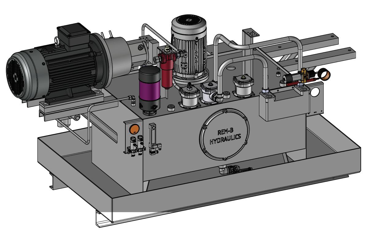 hydraulisch aggregaat 3d